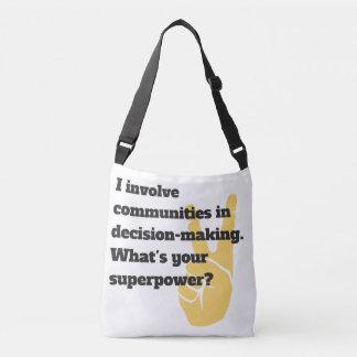 Bolsa Ajustável Envolva o saco do super-herói das comunidades
