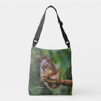 Bolsa Ajustável Esquilo vermelho picante no abeto