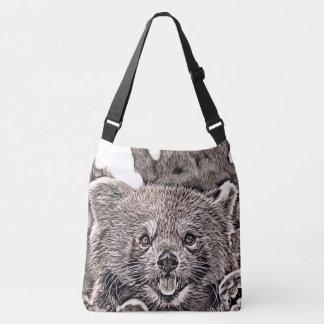 Bolsa Ajustável Estilo rústico - panda vermelha 2
