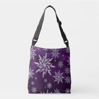 Bolsa Ajustável Estrelas roxas do Natal com o cristal de gelo