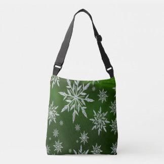 Bolsa Ajustável Estrelas verdes do Natal com o cristal de gelo