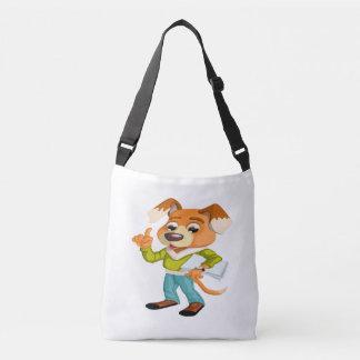 Bolsa Ajustável Estudante do cão dos desenhos animados que obtem