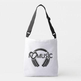 Bolsa Ajustável Eu amo fones de ouvido da música