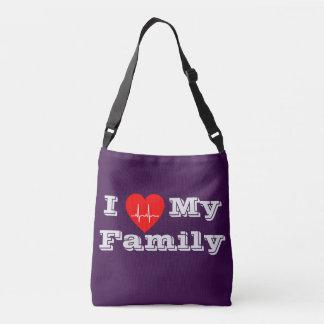 Bolsa Ajustável Eu amo minha mala a tiracolo feita sob encomenda