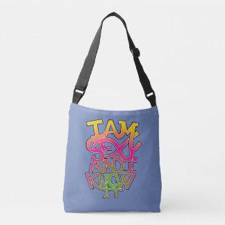 """Bolsa Ajustável Eu sou """"sexy"""" e eu sei-o - grafites"""