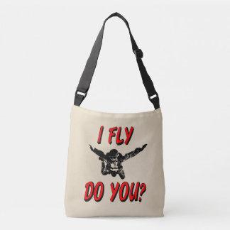 Bolsa Ajustável Eu vôo, faz você? (preto)