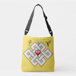 Bolsa Ajustável Fadas transversais pretas amarelas do saco para o