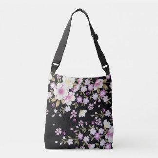 Bolsa Ajustável Falln que conecta flores cor-de-rosa