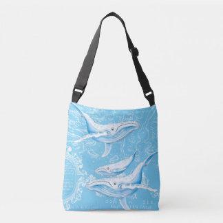 Bolsa Ajustável Família das baleias azuis