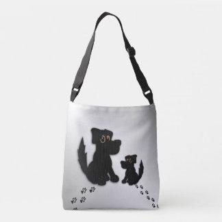 Bolsa Ajustável Família de cão preto