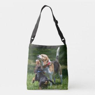 Bolsa Ajustável Filhote de cachorro e mamã adoráveis do lebreiro