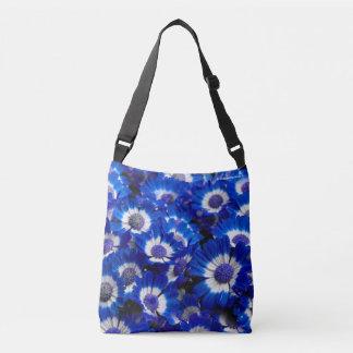 Bolsa Ajustável Flores bonitas do Cineraria dos azuis marinhos