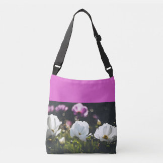 Bolsa Ajustável Flores brancas e roxas da anêmona
