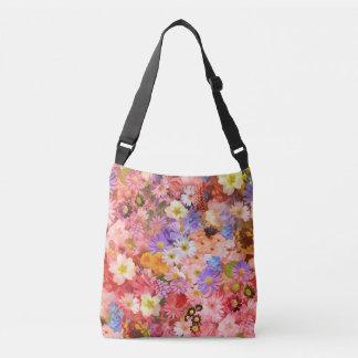 Bolsa Ajustável Flores do primavera cor-de-rosa e vermelho