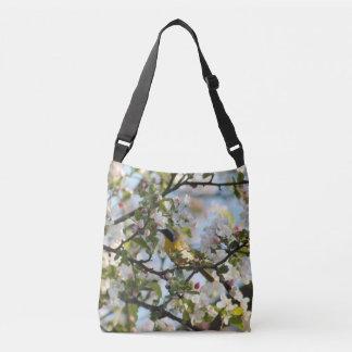 Bolsa Ajustável Flores e toutinegra do primavera
