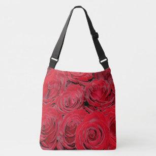 2a3337c9a Bolsa Ajustável Flores românticas do amor das rosas vermelhas,