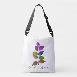 Bolsa Ajustável Folhas do arco-íris da aguarela