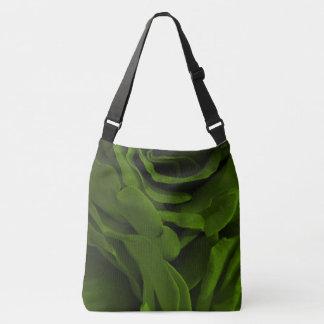 Bolsa Ajustável Foto aveludado da flor dos rosas da verde azeitona
