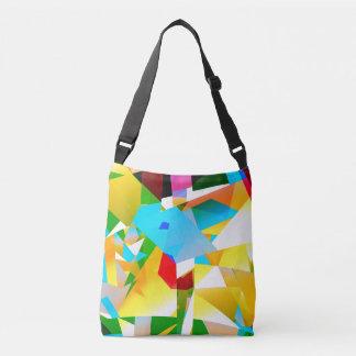Bolsa Ajustável fractal colorido do design abstrato