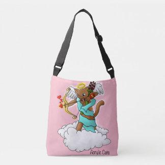 Bolsa Ajustável Gato castanho chocolate do Cupido do dia dos