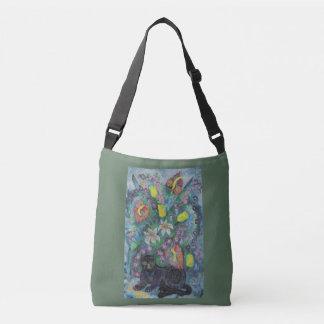 Bolsa Ajustável Gato com flores