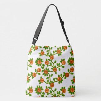 Bolsa Ajustável Grande - branco #1 floral feito sob medida da