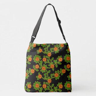 Bolsa Ajustável Grande - preto #1 floral feito sob medida da
