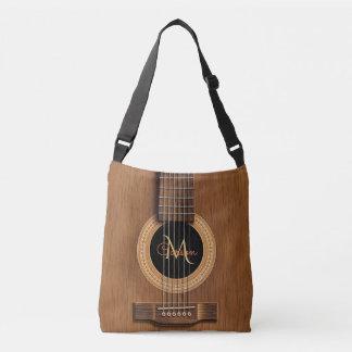 Bolsa Ajustável Guitarra acústica de madeira morna