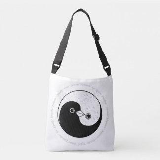 Bolsa Ajustável Harmonia das pombas da mala a tiracolo b/w YinYang