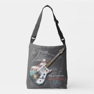 Bolsa Ajustável Ilustração da guitarra da bandeira americana do
