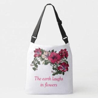 Bolsa Ajustável Impressão floral Ruffled do petúnia cor-de-rosa