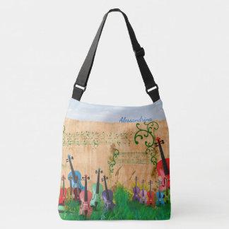 Bolsa Ajustável Jardim Brilhante-Colorido do violino com opção