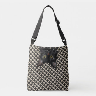 Bolsa Ajustável Jaspe, gato preto