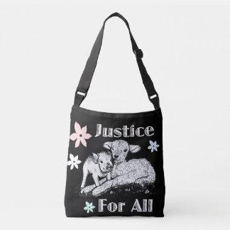 Bolsa Ajustável Justiça para todo o saco dos direitos dos animais