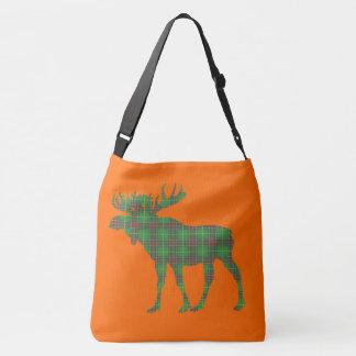 Bolsa Ajustável laranja do saco do tartan de Terra Nova dos alces