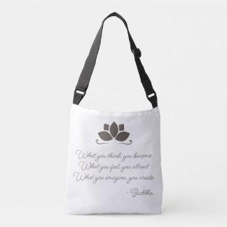 Bolsa Ajustável Lei de Buddha da sacola do Cruz-Corpo da atração