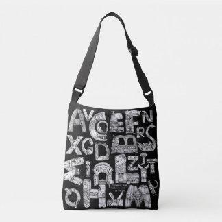 Bolsa Ajustável Letras fantásticas Crossbody preto