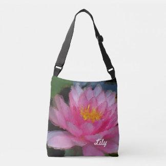 Bolsa Ajustável Lírio de água cor-de-rosa personalizado da flor de