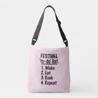Bolsa Ajustável Lista do tumulto do ` do festival' (preto)