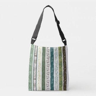 Bolsa Ajustável Listras de padrões decorativos no verde