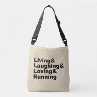 Bolsa Ajustável Living&Laughing&Loving&RUNNING (preto)
