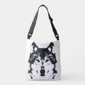 Bolsa Ajustável Lobo preto da ilustração