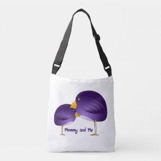Bolsa Ajustável Mamães e mim sacola roxa do bebê dos pássaros
