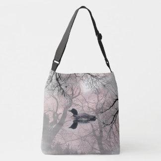 Bolsa Ajustável Mergulhão-do-norte preto e branco em um saco da