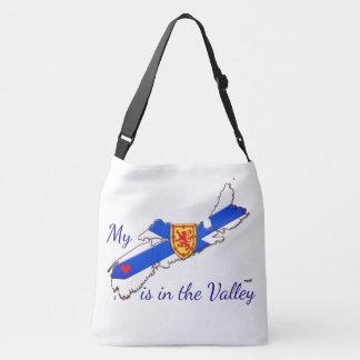 Bolsa Ajustável Meu coração é o saco transversal de Nova Escócia