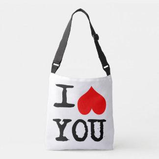 Bolsa Ajustável Mim coração você e mim customizáveis