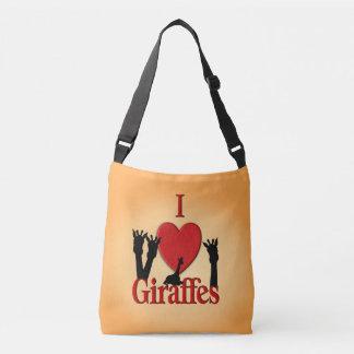 Bolsa Ajustável Mim girafas do coração
