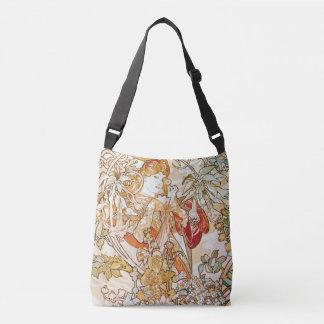 Bolsa Ajustável Mulher de Alphonse Mucha com uma arte Nouveau da