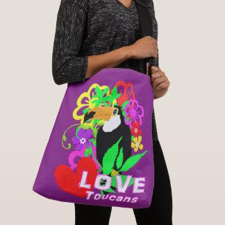 Bolsa Ajustável Na moda colorido animal tropical bonito de Toucans