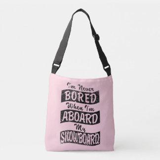 Bolsa Ajustável Nunca EMBARQUE A BORDO de meu SNOWBOARD (o preto)
